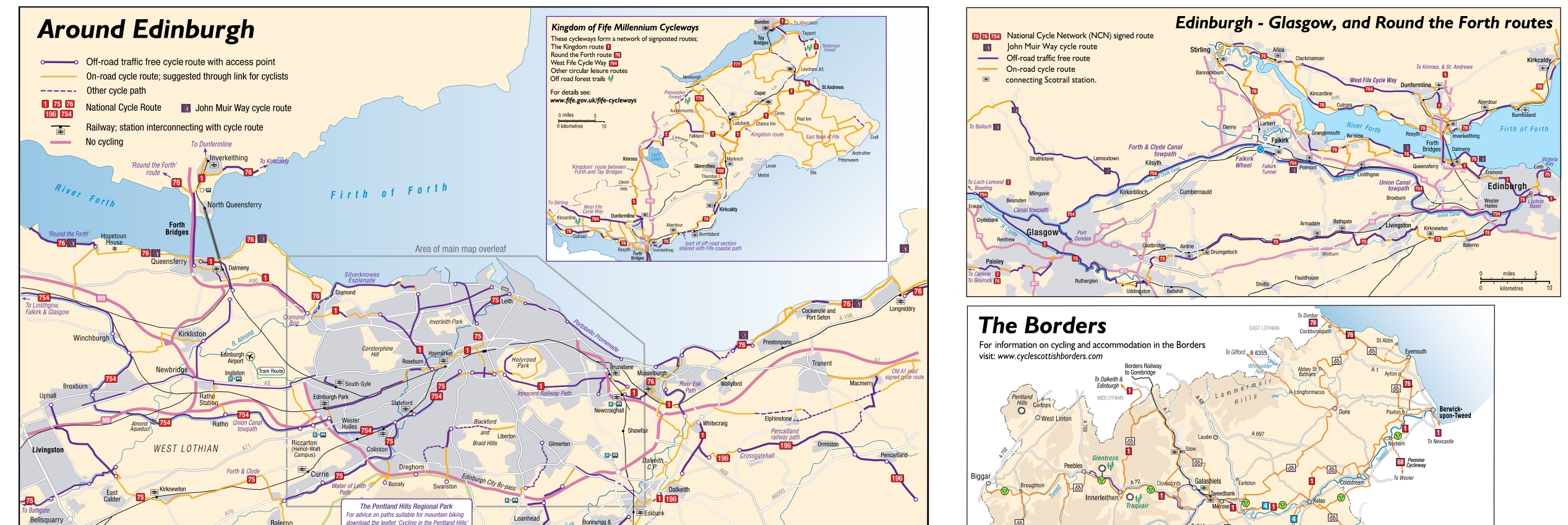The New Spokes Edinburgh Map Spokes
