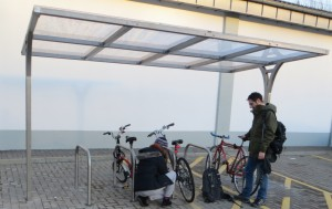 New bike shelter, Lidl Dalry Road