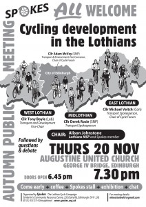 Spokes autumn public meeting