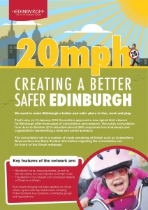 1502 CEC facts 20mph p1 Creating a better, safer Edinburgh - The facts 2