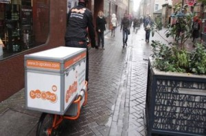 b-Spokes delivering to Rose Street, Edinburgh