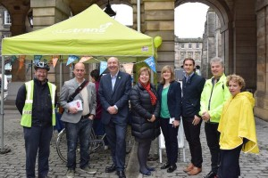 Tweeted by @SustransScot ...  Councillors: Chas Booth, Jim Orr, Andrew Burns, Lesley Hinds, [MSP] Aliston Johnstone, Adam McVey, Nigel Bagshaw, Joanna Mowat
