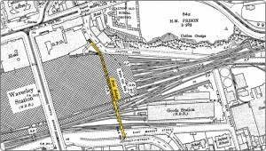 Old Waverley footbridge map